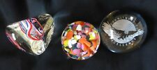 Group of 3 US Paperweights, One Monte Dunlavy signed, Tiara Exclusive & Eagle