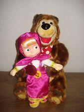 Set of 2 soft toys Bear 28 cm + Masha 22 from Masha and Bear (Маша и медведь)