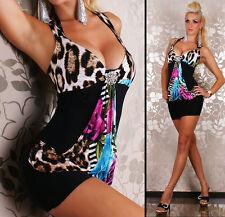 Women's Animal Print Polyester Strappy, Spaghetti Strap Dresses