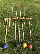 New listingVintage Jacques of London croquet set with hoops, balls as shown