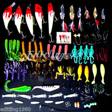 Fishing tackle boxes full of 100 LURES & TONS OF FISHING ITEMS+many more NEW CA