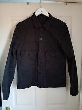 Pretty Green Rare Black Label Leopard Print Trucker Jacket Black Size M
