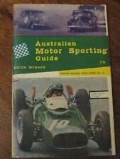 RARE 1963-1964 AUSTRALIAN MOTOR RACING car annual #9 book illust'd FREE POST