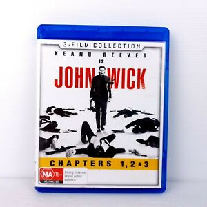 John Wick 3 Film Collection Chapters 1,2 & 3 - Blu-Ray - FREE POST