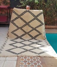 GRANDE Diamante la merce ourain 10' x 7' Marocchino Tappeto Tapis Teppich fatto a mano lana Souk