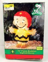 "Peanuts Charlie Brown 16"" Fuzzy Buddies Lighted Christmas Decor"