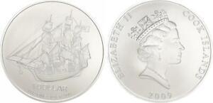 100x 1 Onza 1 Dólar Cook Islands Velero Bu