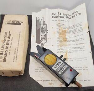 BJ ELECTRONIC BITE ALARM FISHING Vintage Boxed Working ULTRA SENSITIVE