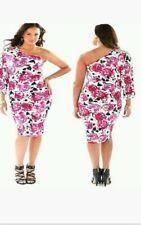 BABY PHAT floral Pink ROSE dress one shoulder dress PLUS SIZE 2X