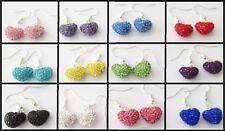 Resin Crystal Drop/Dangle Costume Earrings