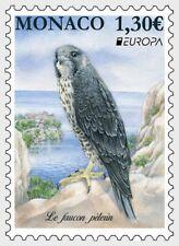 National Birds Europa Peregrine Falcon mnh stamp 2019 Monaco