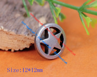 "7mm 20mm Leather DIY Crafts to 3//4/"" 1085c 50 Metal 5-Spike STAR STUDS 1//4/"""