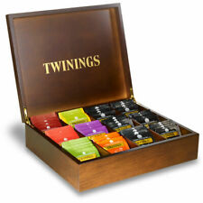 Twinings wooden tea bags compartment box - display tea chest for hotels etc