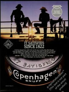 COPENHAGEN SNUFF Smokeless Tobacco -1995 Print Ad (Not real product)