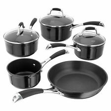 Stellar 3000 Black Induction Non Stick 5 Piece Pan Set S3C1B