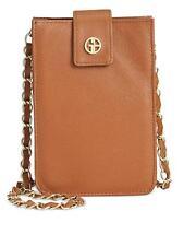 Giani Bernini Nappa Leather Crossbody Smartphone Brown Case Handbag NEW