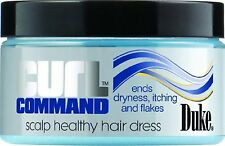 Duke Curl Command Scalp Healthy Hair Dress No Dryness itching Flakes 3.4oz