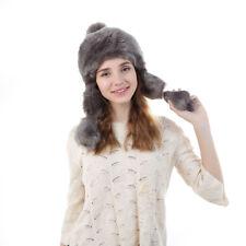 Women Fleece Knitted Ski Thermal Russia Ushanka Style Earflap Beanie Bomber Hat