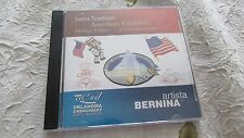 Bernina Artista HERITAGE EDITION Embroidery Card Patriotic Excellent