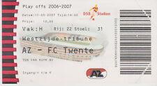 Sammler Used Ticket / Entrada AZ Alkmaar v FC Twente Enschede 13-05-2007