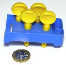 CHAD VALLEY TIN TOY SPARE PLASTIC SET OF TUNERS AND HOLDER FOR UKULELE C1960