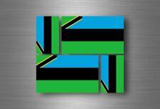4x adesivi adesivo sticker bandiera vinyl tuning zanzibar tanzania