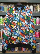 Adidas Multicolour Logo Mens Large Tracksuit Jacket Track Top Rare Retro