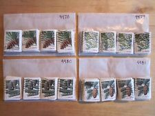 Full Set Christmas Evergreens Issues # 4478 - 4481 x 100 Used US Stamps of Each