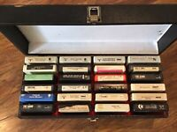 8 Track Tapes Lot Of 24 Assorted Tapes In Carrier