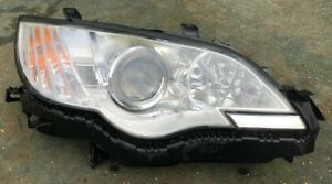 OEM 2008 Subaru Legacy Xenon HID Headlamp & washer Right O/S off-side UK RHD