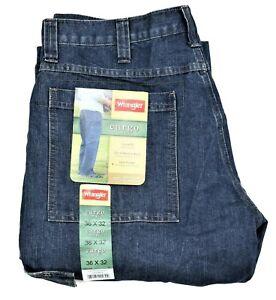 New Wrangler Cargo Jeans Dark Stone Denim Tech Pocket Men's Sizes