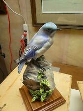 Royal Worcester Dorothy Doughty Pair Bird Figurines Mountain Bluebirds - Boxes