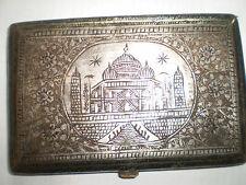 SILVER india tajma hall cigarette case