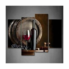 Wine And Fruit With Glass And Barrel Wall Art Painting For Kitc... Free Shipping