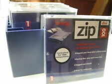 IOMEGA .. ZIP DISKS .. 100 MB .. LOT QUANTITY OF 5 .. STORAGE CASE NOT INCLUDED