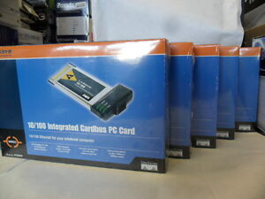 Lot of 5 Brand New Linksys PCM200 EtherFast Cardbus10/100 32-Bit Network Cards