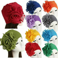 Hot Womens Hair Loss Head Scarf Turban Cap Flower Muslim Cancer Chemo Hat Cover