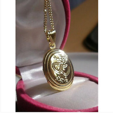 9CT GOLD GF LOCKET ON CHAIN NECKLACE, THIS IS STUNNING.. 9ct gold bling 98