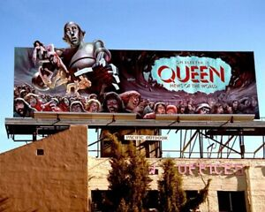 Queen News Of The World 1977 Music Advertising Billboard Real Photo 8x10 Print