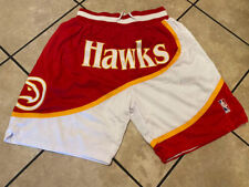 Atlanta Hawks Retro Men's Just Don Stitched Basketball Shorts Red/White