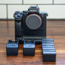 Sony A7II, Sony VG-C2EM Battery Grip, Two Sony Chargers, Eight Batteries