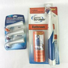 Sonic Scrubber Bathroom Powered Cleaning Tool Plus 3 Pack Replacement Brushes