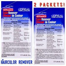 (2 PACK) L'Oreal Effasol Hair Color Dye Remover Wash Away Permanent Hair 0.87oz