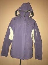 salomon Purple Ivory Warm Winter Jacket With Fleece 2in 1, Sz. L