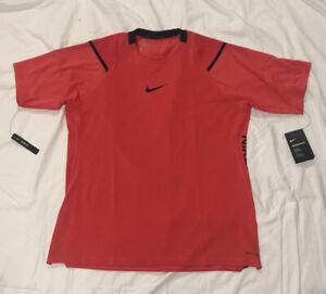Nike Pro Aero Adapt Training Shirt Men's XL BV5510-631 Red Slim Fit Rare