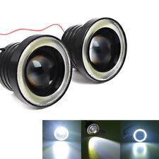 """COPPIA 2.5"""" AUTO LED Angel Eye Halo Anello PROIETTORE LENTE nebbia DRL Guida Luce Kit"""