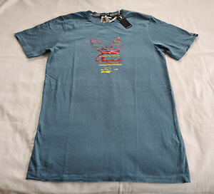 Playboy Bunny Logo Mens Steel Printed Short Sleeve T Shirt Size M New Marked