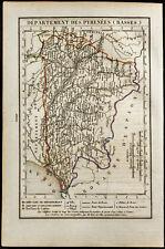 1823 - Mapa Bajos Pyrenees (Pyrenees-Atlántico) / Xavier Girard & Roger