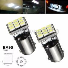 2x BA9S T11 T4W 1206 LED 9 SMD Bulb License Plate Map Door Dome Light Lamp Bulb