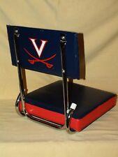 UVA CHAIR UNIVERSITY VIRGINIA CAVALIERS STADIUM SEAT FOLDING PAD USED BLEACHER.